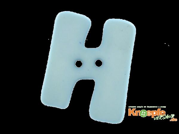 Buchstabenknopf H - hellblau