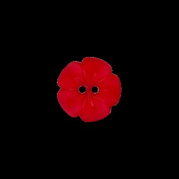 Kinderknopf `Blume`, 11mm, rot