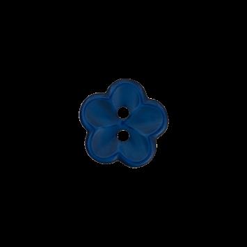 Kinderknopf `Blume` - Marine