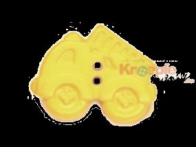 Kinderknopf - Feuerwehrauto, Gelb