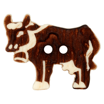 Trachtenknopf `Kuh, 31mm`