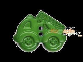 Kinderknopf - Feuerwehrauto, Grün