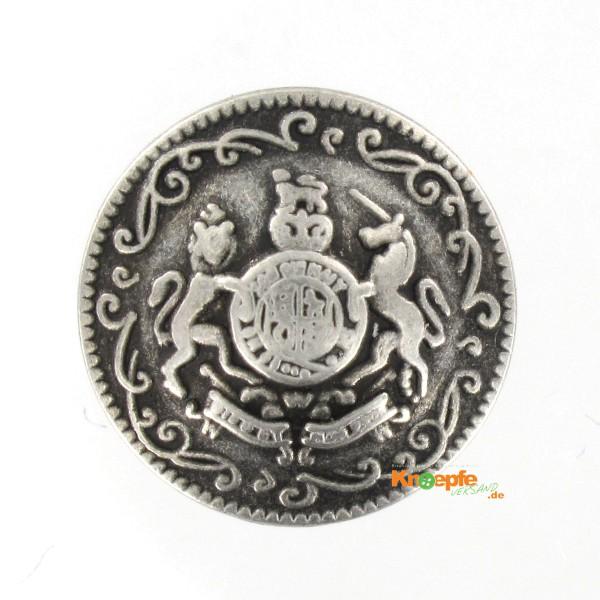 Metallknopf `Wels`, 18mm