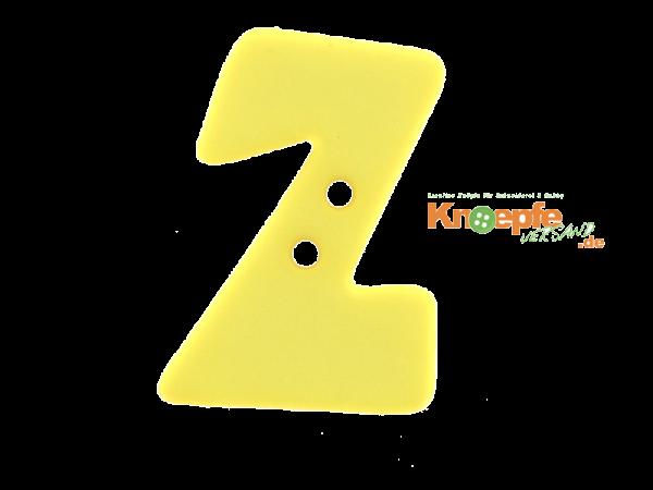Buchstabenknopf Z - gelb