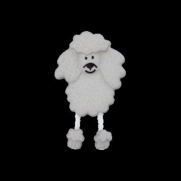 Kinderknopf - Pudel, Grau