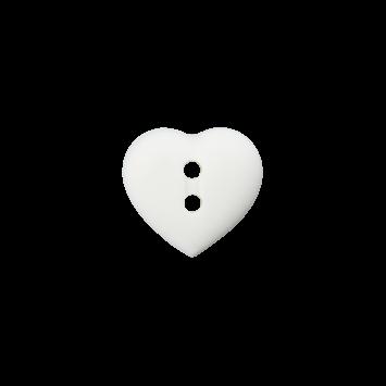 Kinderknopf `Herz`- Weiß