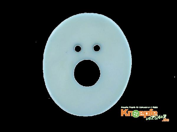 Buchstabenknopf O - hellblau