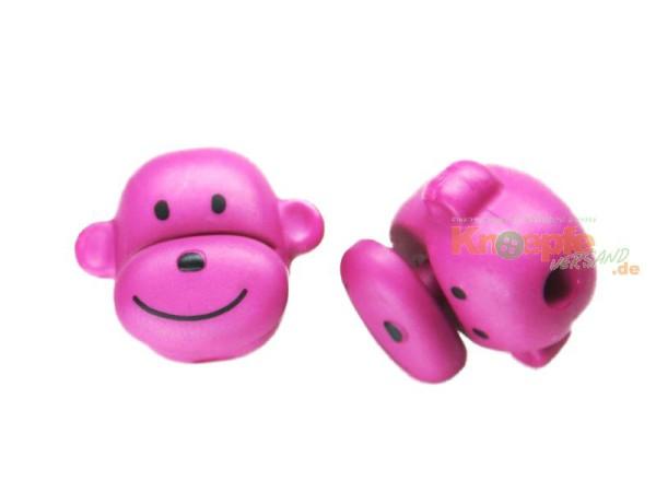 Kordelstopper - Affenkopf - Pink