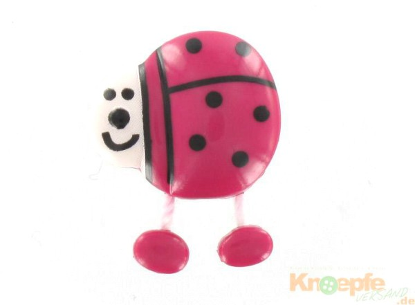 Marienkäferknopf, Pink