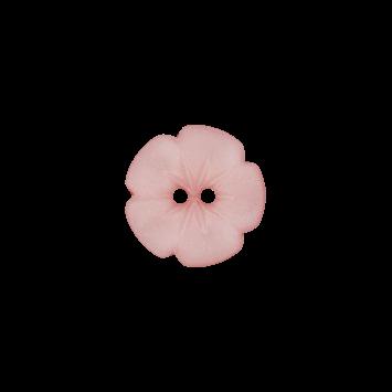 Kinderknopf `Blume`, 15mm, rosa