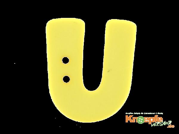 Buchstabenknopf U - gelb