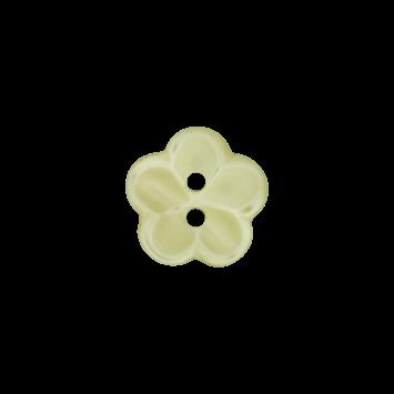 Kinderknopf `Blume` - Grün