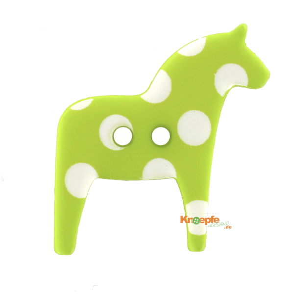 Kinderknopf - `Dala-Pferdchen`- Grün