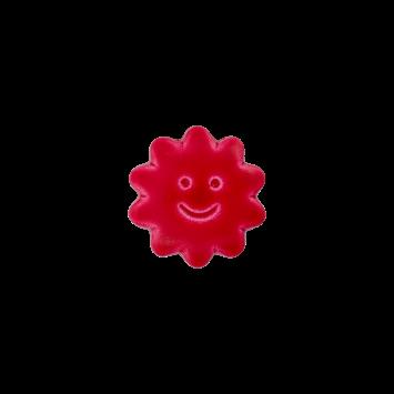 Kinderknopf `Sonne mit Gesicht`- Pink