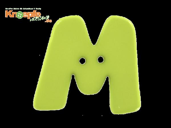 Buchstabenknopf M - grün