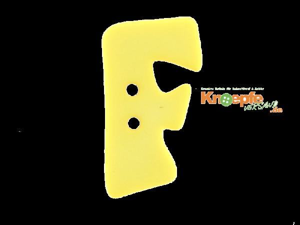 Buchstabenknopf F - gelb