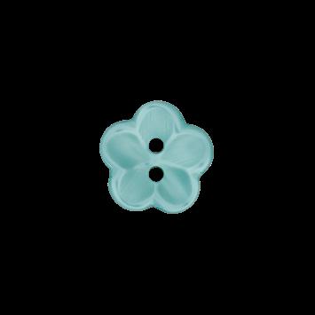 Kinderknopf `Blume` - Türkis
