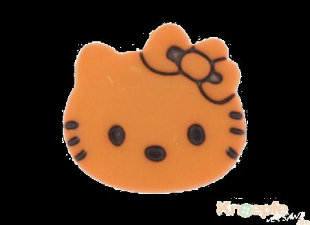 Kinderknopf `Katzenkopf`- Orange