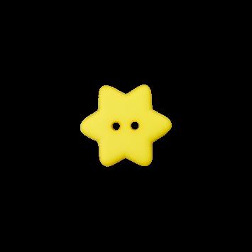 Kinderknopf - Stern, Gelb