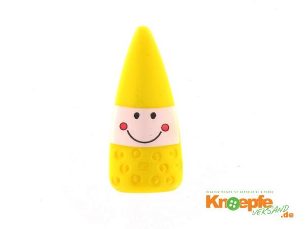 Kinderknopf `Zauberzwerg` - Gelb