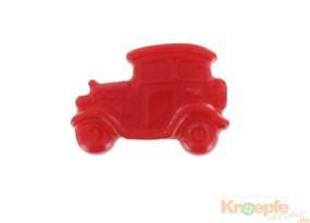 Kinderknopf - Oldtimer, Rot