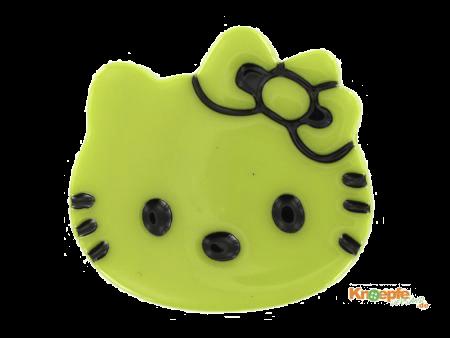 Kinderknopf `Katzenkopf`- Hellgrün