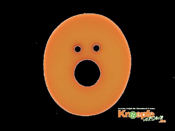 Buchstabenknopf O - orange