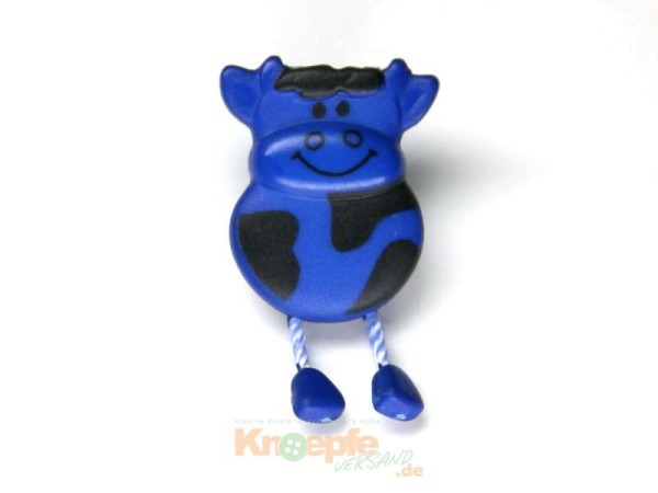 Kuhknopf, Blau