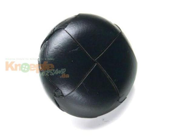 Lederknopf `geflochten, schwarz, 25mm`
