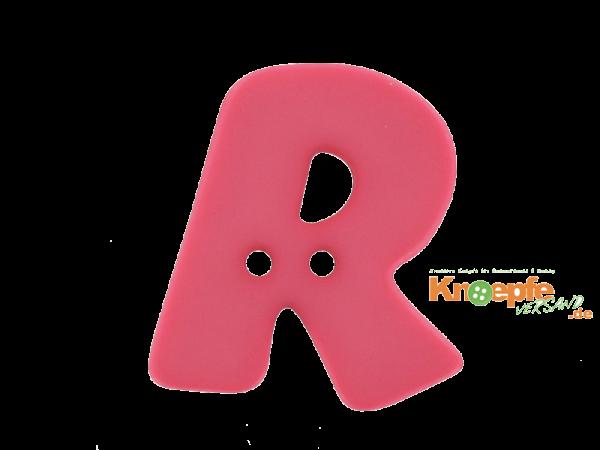 Buchstabenknopf R - pink
