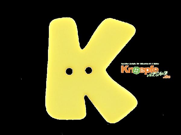 Buchstabenknopf K - gelb