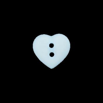 Kinderknopf `Herz`- Hellblau