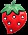 Erdbeere 25mm
