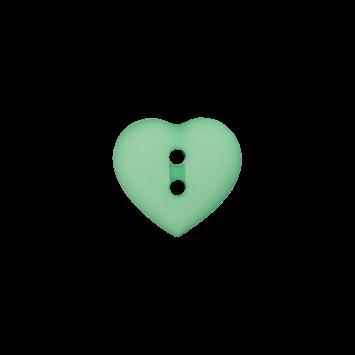 Kinderknopf `Herz`- Grün