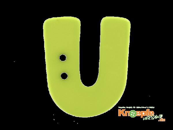 Buchstabenknopf U - grün