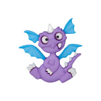 Kinderknopf `Drache`, lila