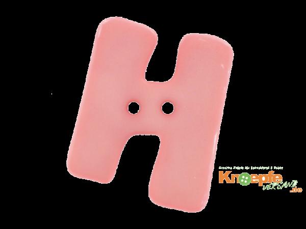 Buchstabenknopf H - rosa