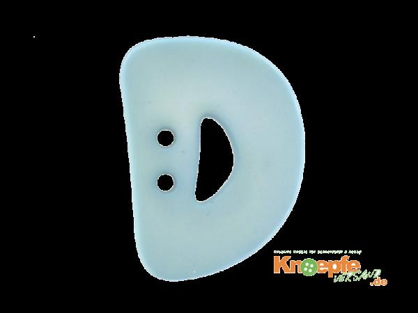 Buchstabenknopf D - hellblau