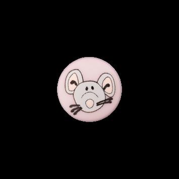 Kinderknopf`Maus`, rosa