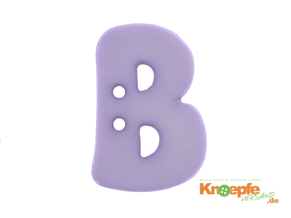 Buchstabenknopf B - lila