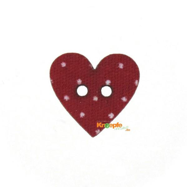 Holzknopf `Herz` 14mm