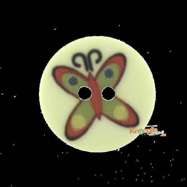 Kinderknopf `Schmetterling`- Hellgrün