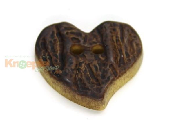Trachtenknopf `Herz`, 15mm