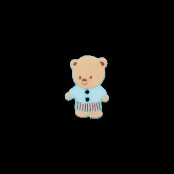 Kinderknopf `Bärchen`, hellblau
