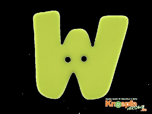 Buchstabenknopf W - grün