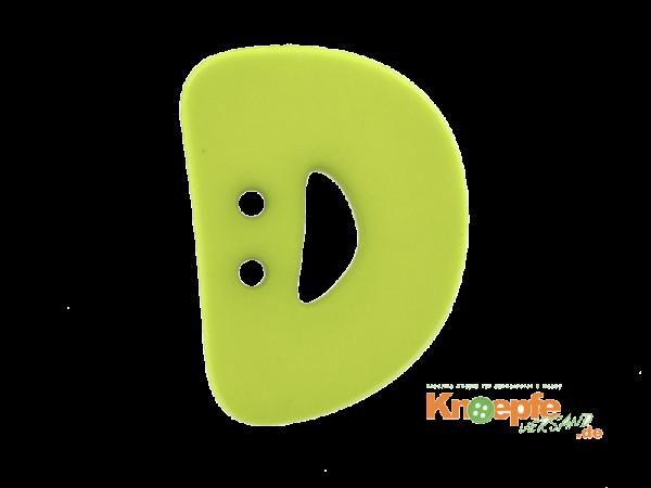 Buchstabenknopf D - grün
