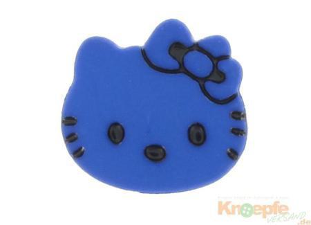 Kinderknopf `Katzenkopf`- Blau
