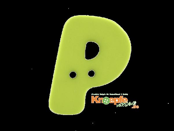 Buchstabenknopf P - grün