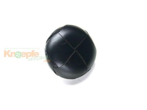 Lederknopf `geflochten, schwarz, 18mm`