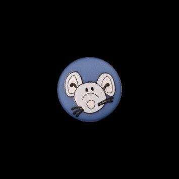 Kinderknopf`Maus`, dunkelblau